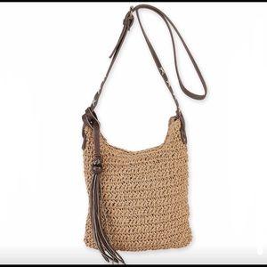 NWOT Natural crochet crossbody bag